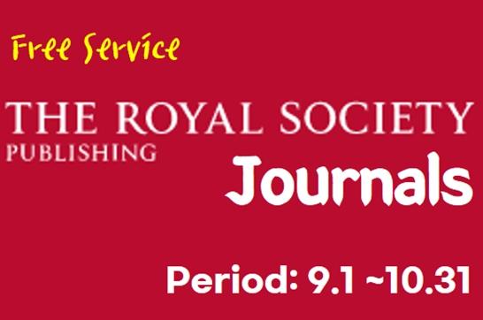 Free Service: Royal Society Journals (~10.31)